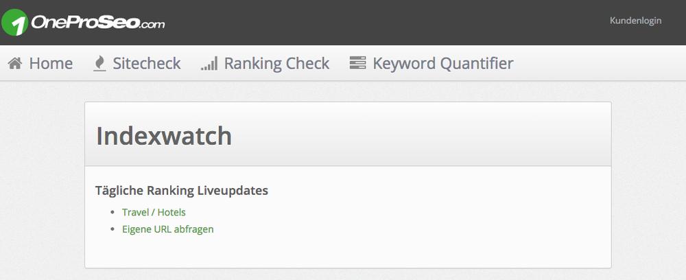 Indexwatch