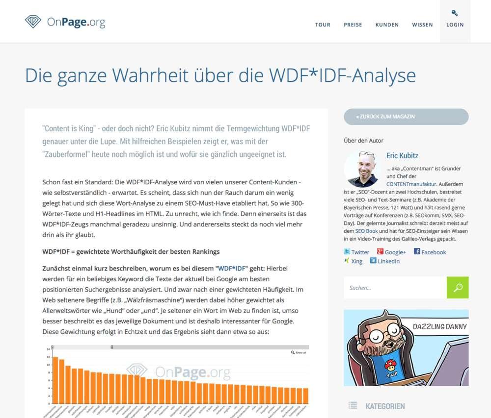 WDF*IDF-Analyse