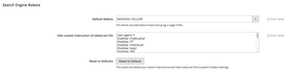 Heute stellen wir alle Seiten auf NoIndex, Follow