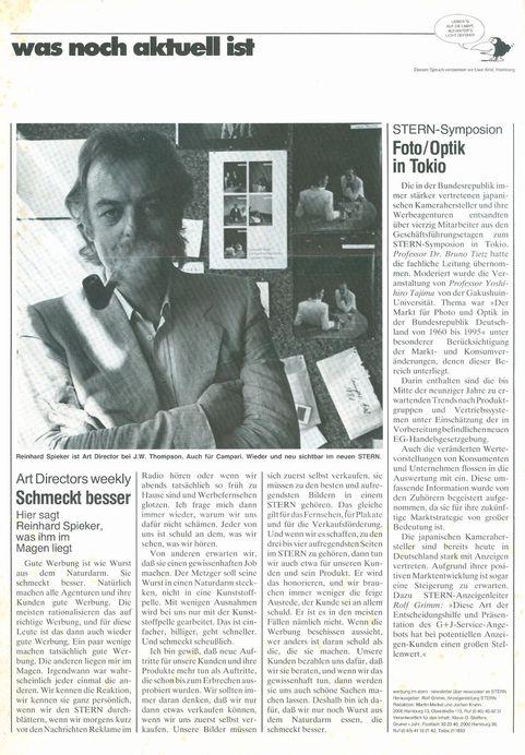 Reinhard Spieker in der Presse