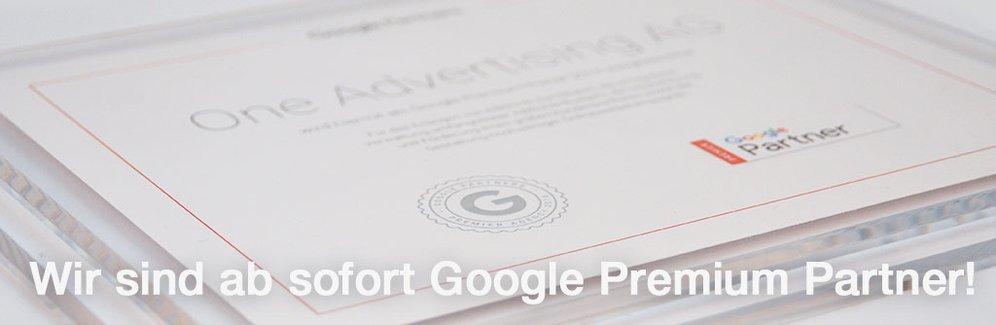 One Advertising AG ist Google Premium Partner