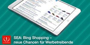 Neue Werbechancen mit Bing Shopping