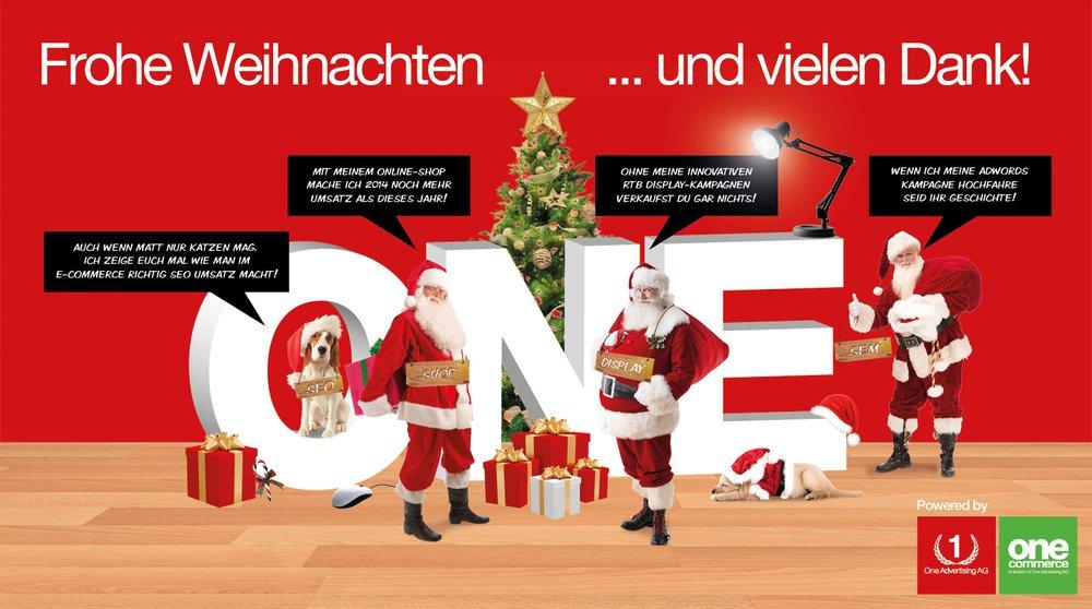 Frohe Weihnachten. Und vielen Dank!