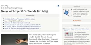 Die neun wichtigsten SEO-Trends für 2015