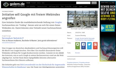 Opensource Suchindex Google Suchmaschine