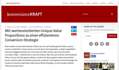 Mit werteorientierten Unique Value Propositions zu einer effizienteren Conversion-Strategie