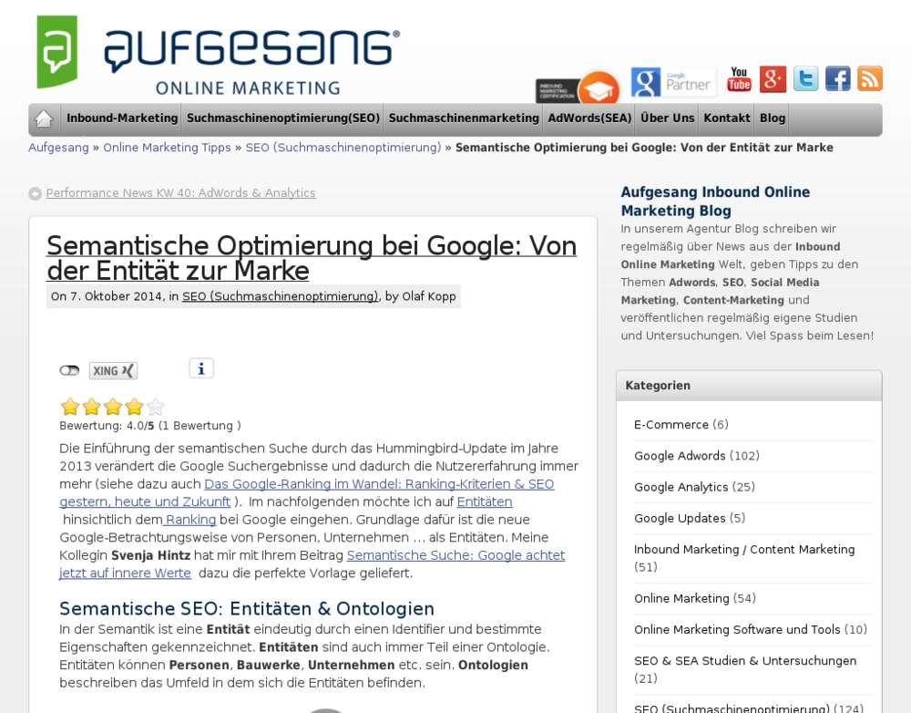 Google Semantische Optimierung