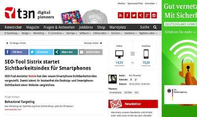 t3n Sistrix startet Smartphone-Sichtbarkeitsindex