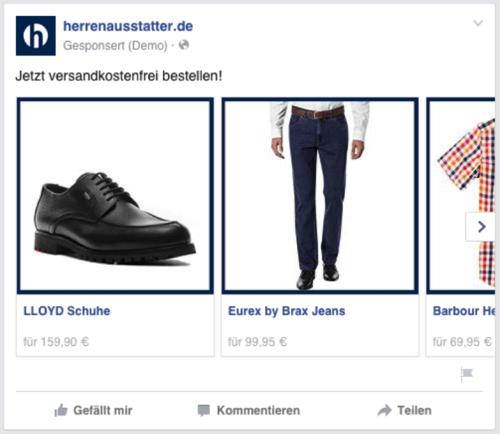 Dynamic Product Ads herrenausstatter.de