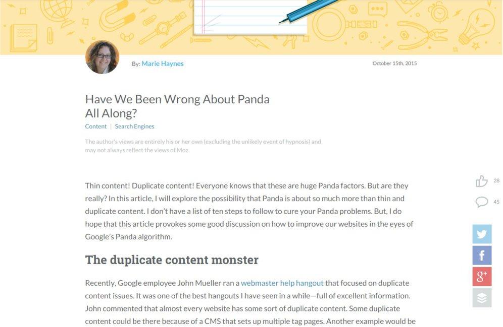 Moz Blog Panda Neubewertung