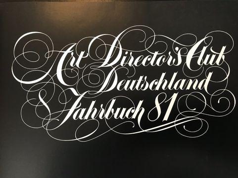 Reinhard Spiekers Art Directors Club 1981