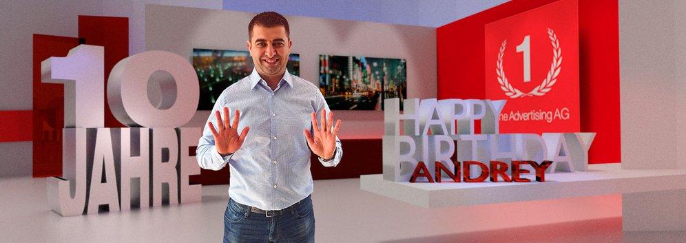 10 Jahre One Advertising AG: Geburtstagskind Andrey Cekovski