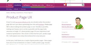 Yoast-Blog Product Page UX