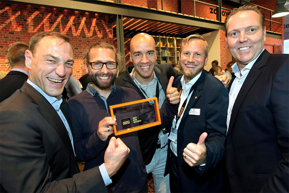 Die One Advertising AG erhält zanox Best New Business Award 2015
