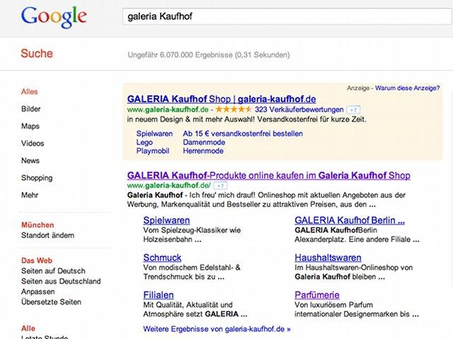 Google Mega Sitelinks