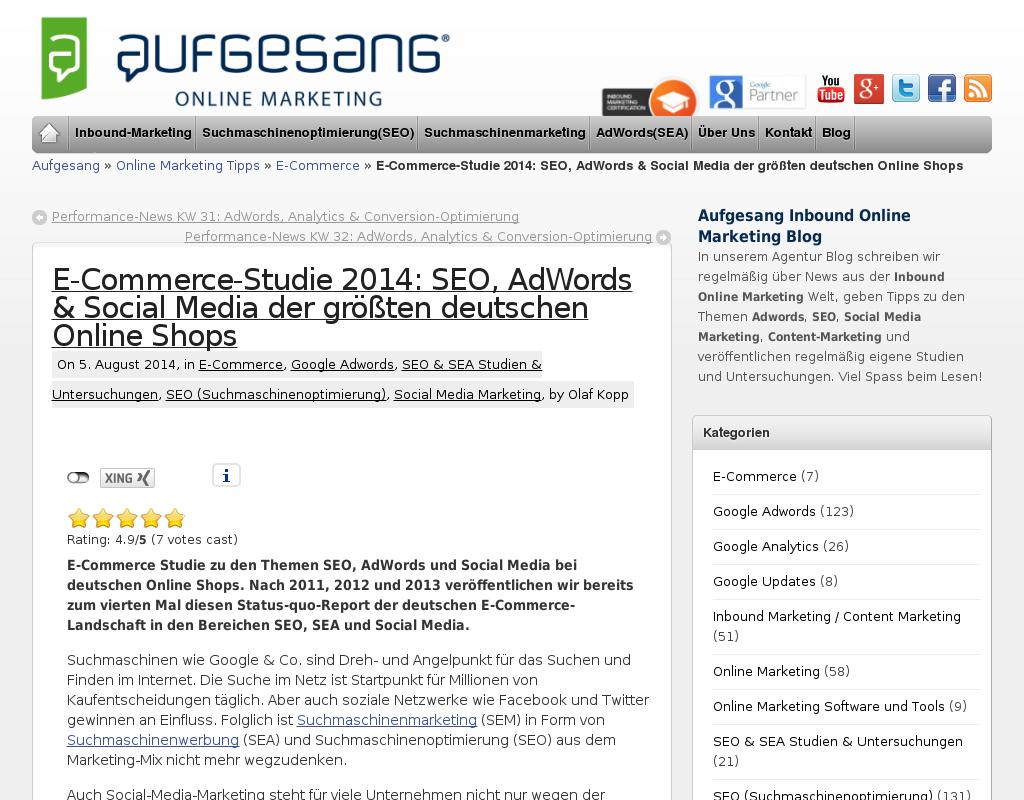 E-Commerce Studie