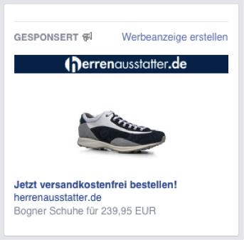 Right Hand Side Ads herrenausstatter.de